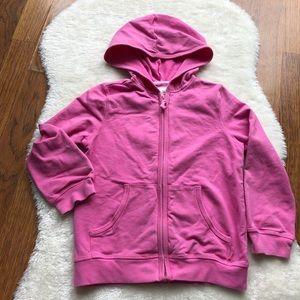 Girls lightweight zipup hoodie w/pockets S (5/6)